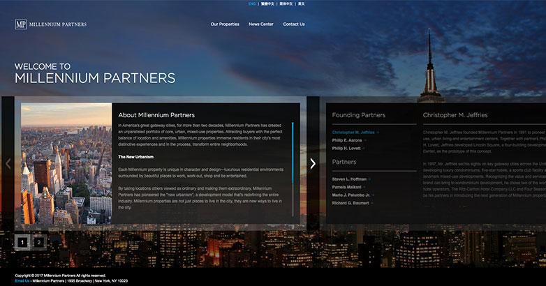 construction website for millennium tower