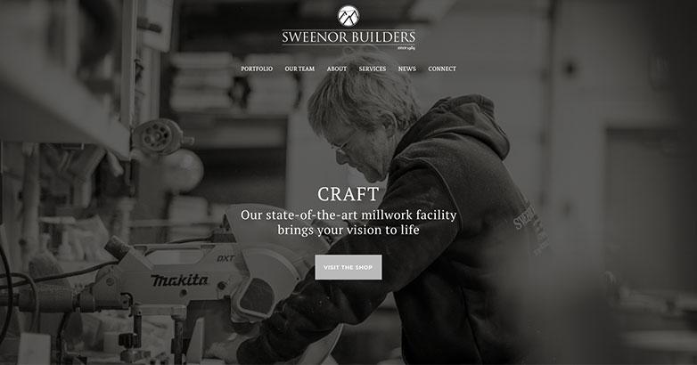 Sweenor construction website