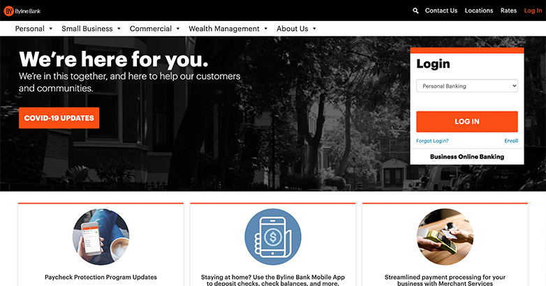 byline bank web design