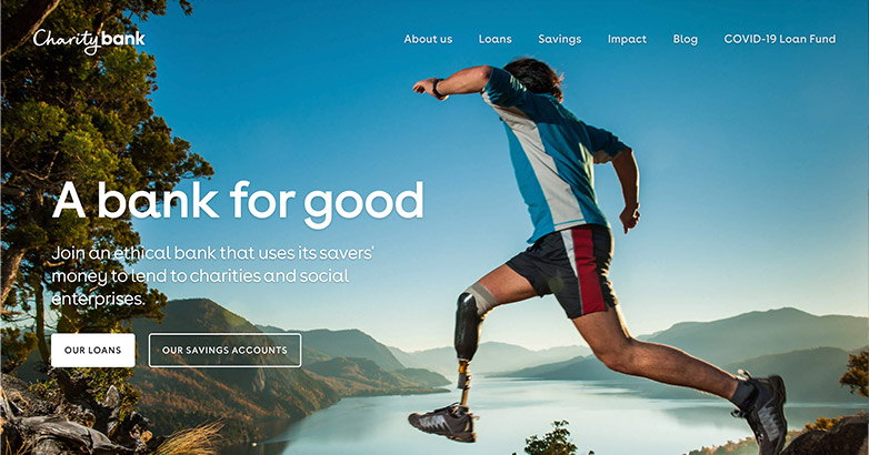 charity bank site design