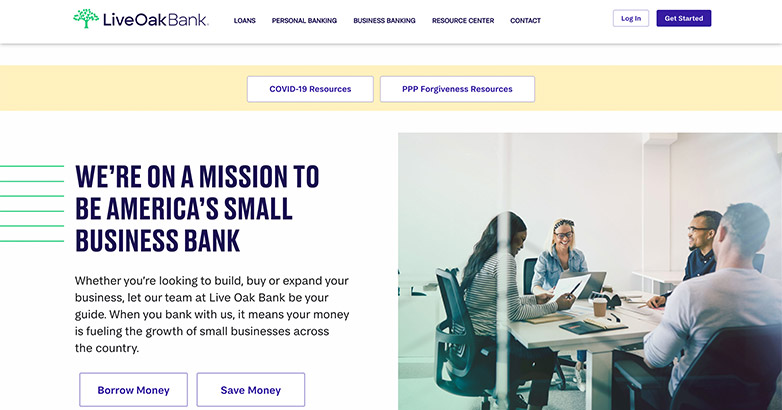 web design for banks