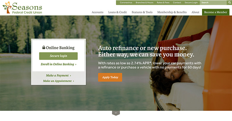 design for bank websites
