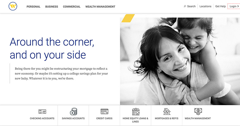 webster bank site design