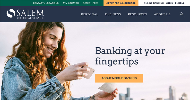 salem co-op bank web design