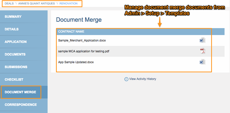 Document Merge