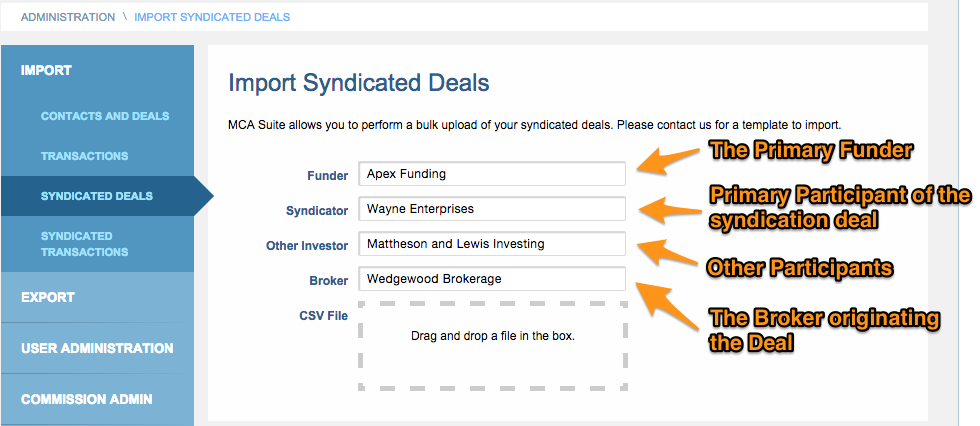 Importing Syndicated Deals