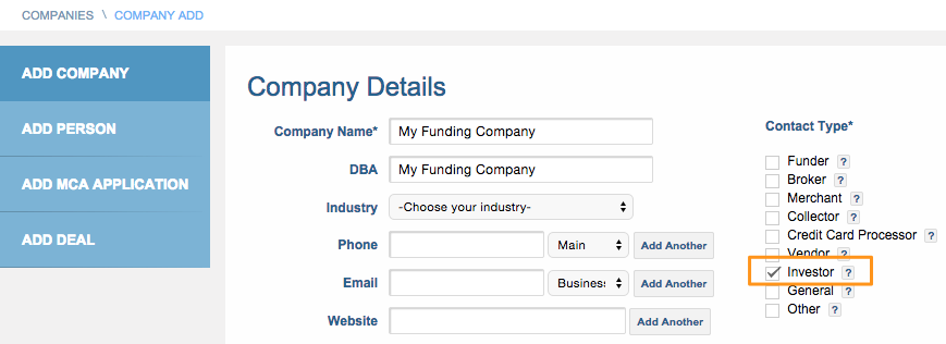 Investor company