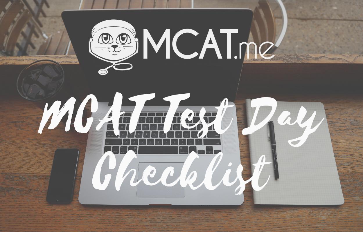 MCAT Test Day Checklist – MCAT me