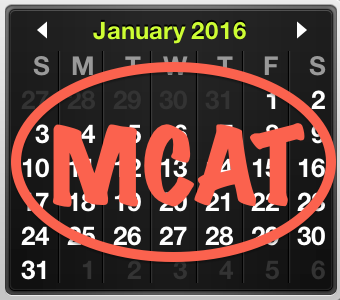 Preparing for the January 2016 MCAT