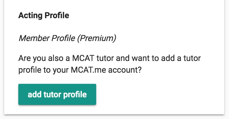 Add member or tutor profile