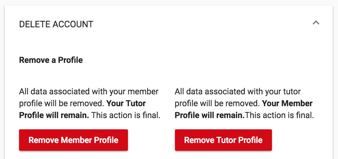 Remove a profile