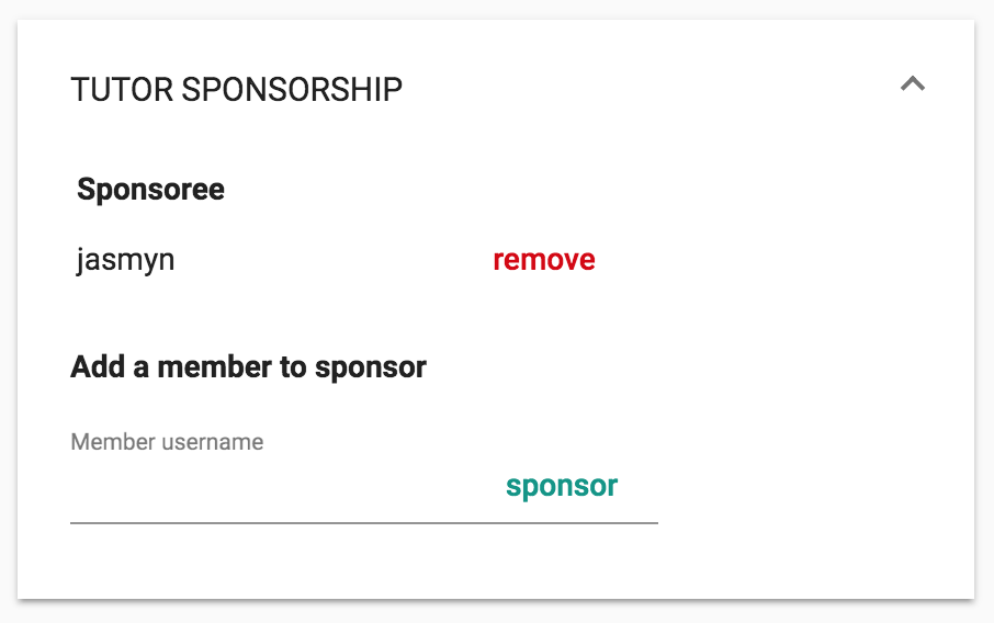 Remove tutor sponsorship