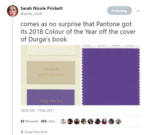Durga Chew-Bose's TOO MUCH AND NOT THE MOOD Predicts Pantone's Color of the Year