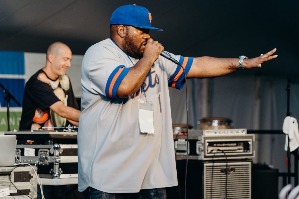 Rah'zel the beat boxer at the National Folk Festival 2018 in Salisbury Maryland - Picture by Chris Mcintosh