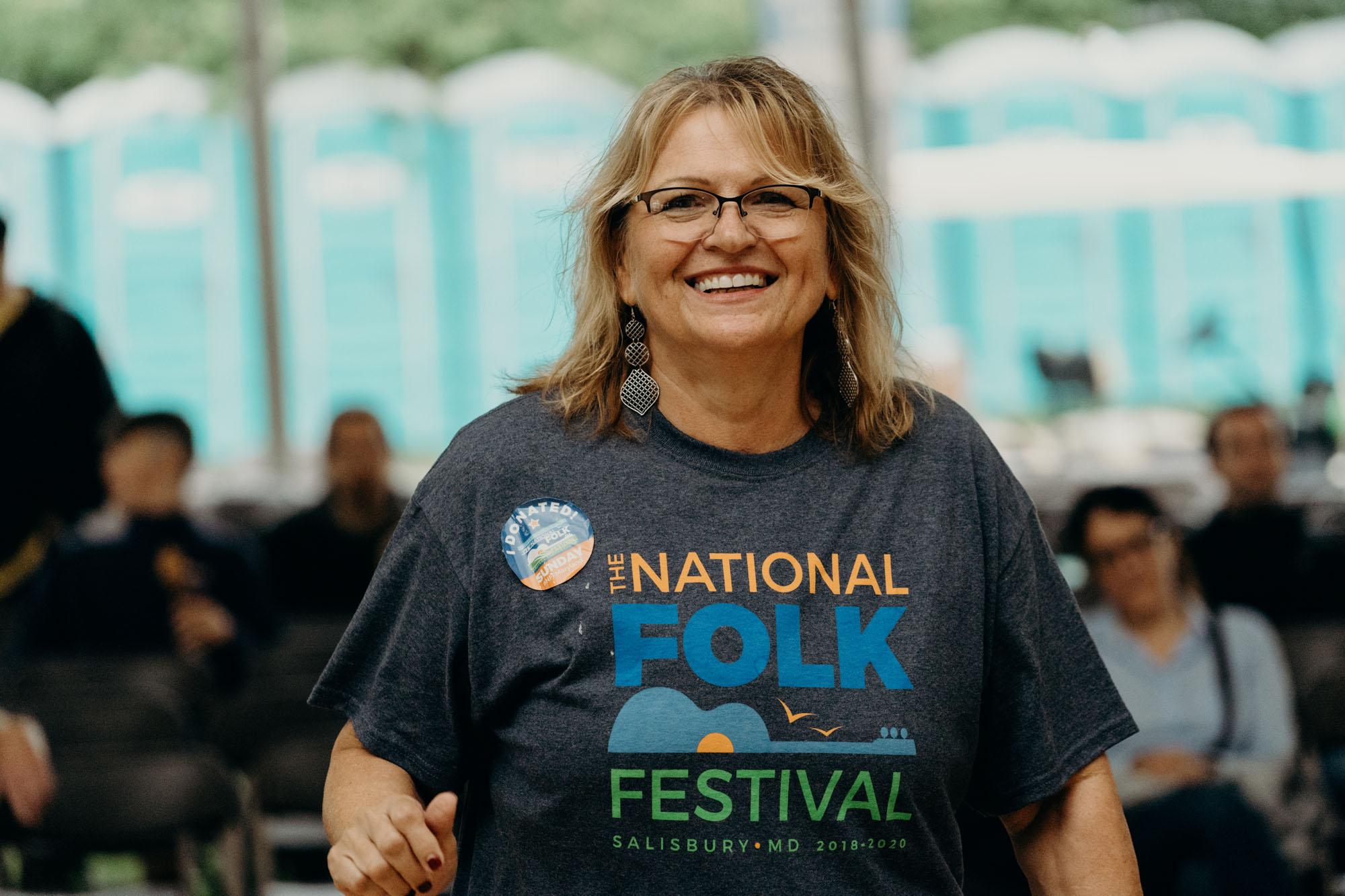 National Folk Festival 2018 Smiling Volunteer - Chris Mcintosh