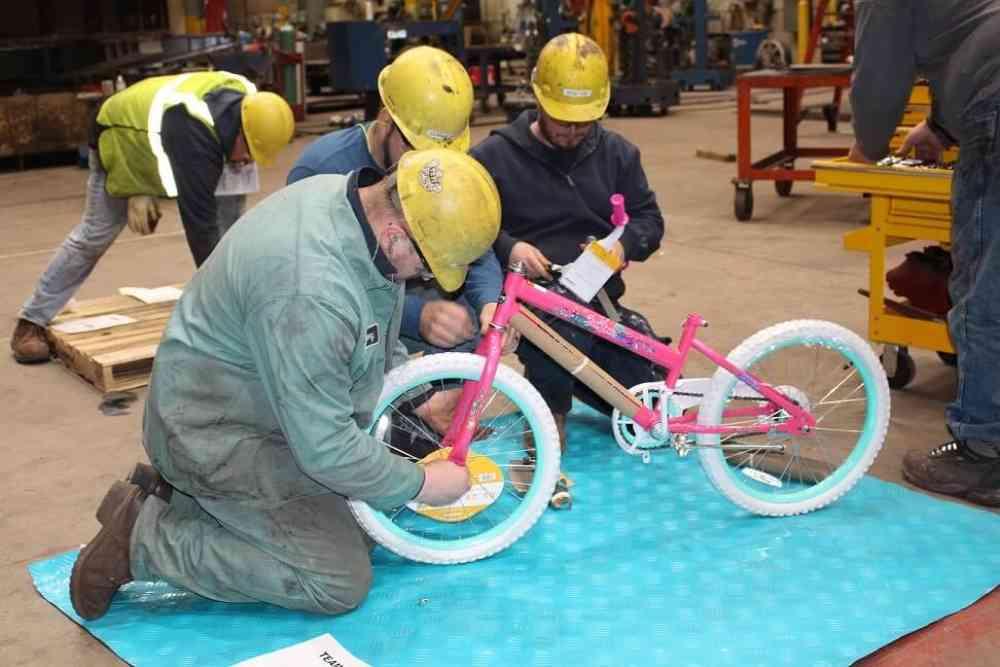 Bike Building Teamwork Exercise