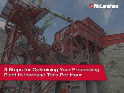 3 Steps for Optimising Your Processing Plant to Increase Tons Per Hour
