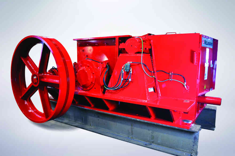 Single Roll Crusher V Belt Driven Low Profile Design