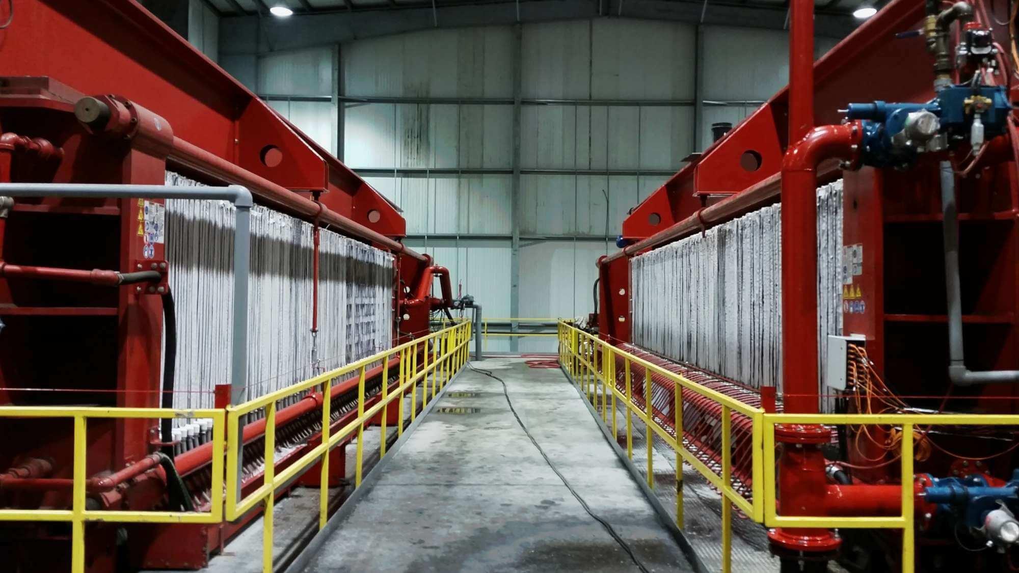 Mc Lanahan Overhead Beam Presses Dewatering Coal Tailings