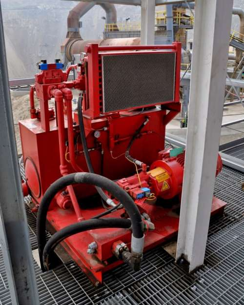 Hydraulic Power Unit Of A Mc Lanahan Filter Press