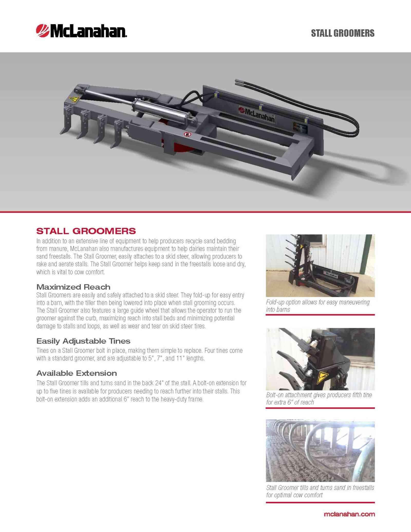Stall Groomer Brochure Image Page 1