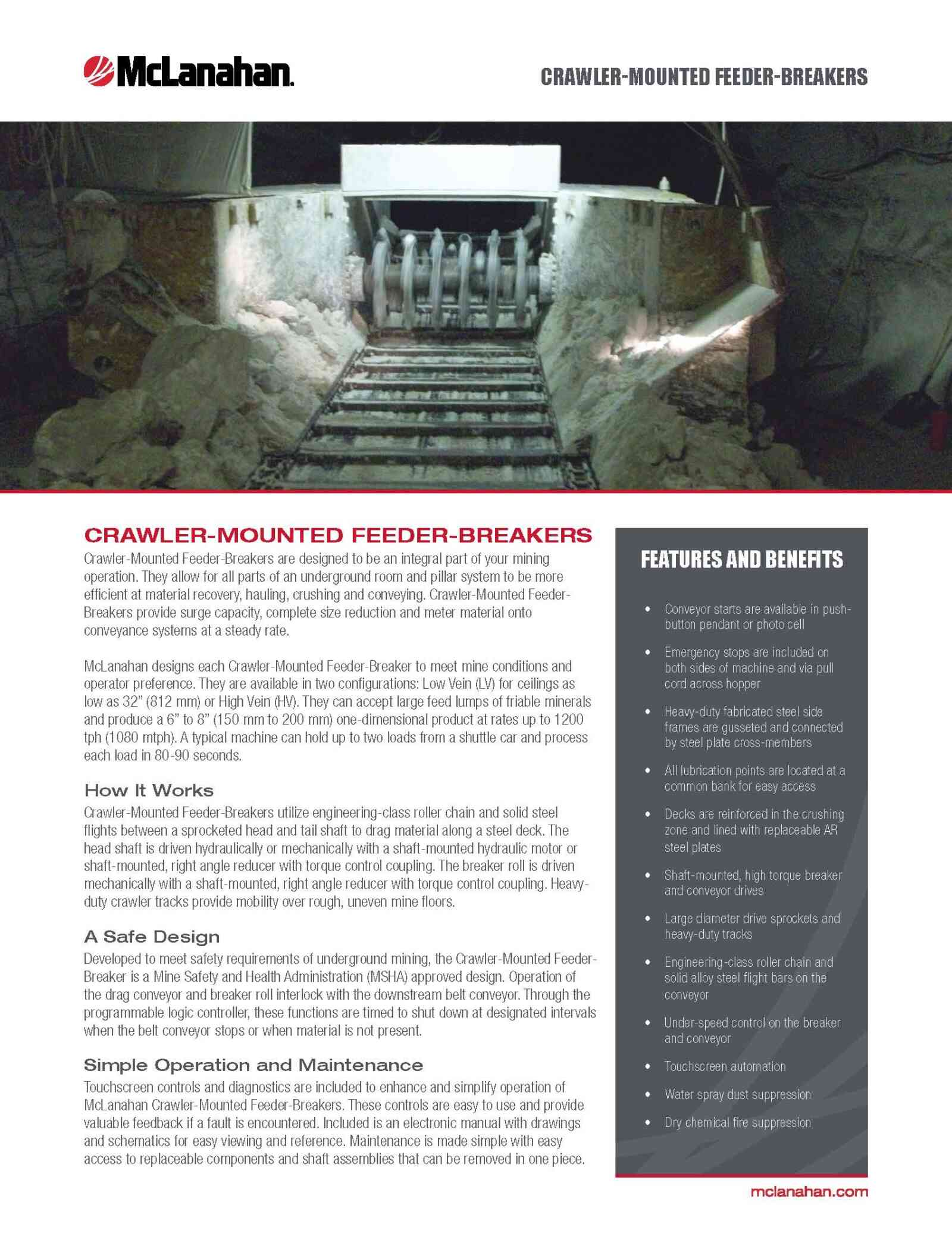 Crawler Mounted Feeder Breaker Brochure Image Page 1