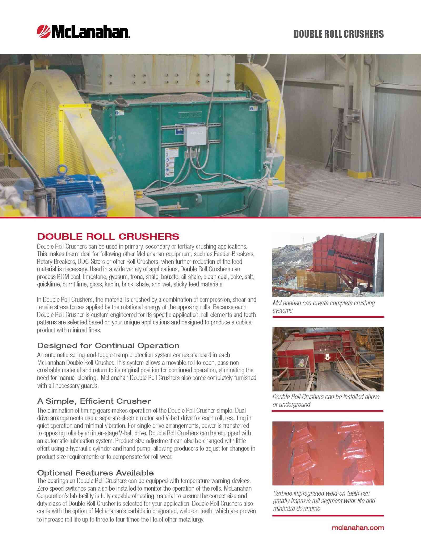 Double Roll Crusher Brochure Image Page 1