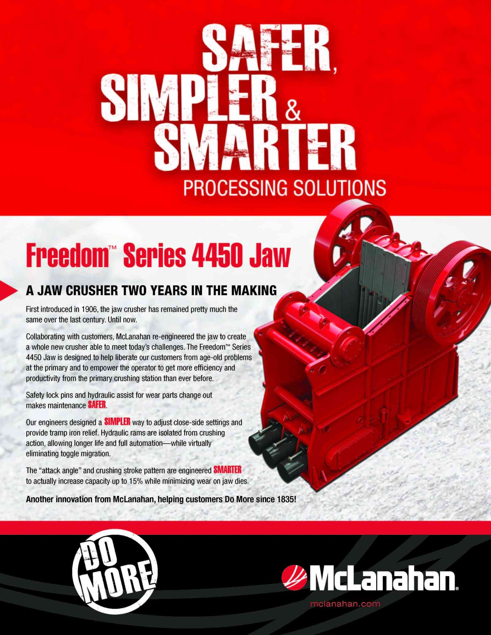 Freedom Jaw Crusher Brochure Image Page 1