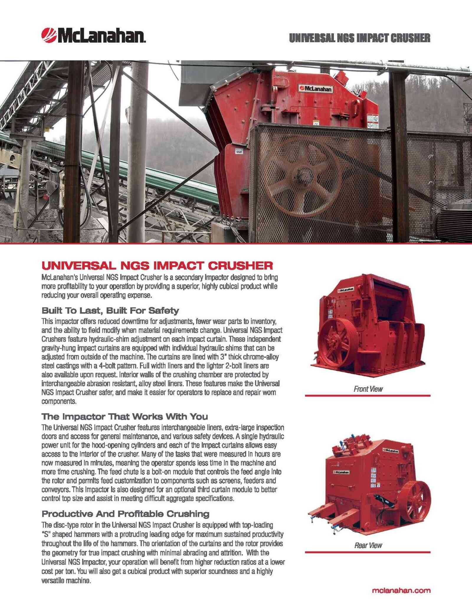 Ngs Impact Crusher Brochure Image Page 1