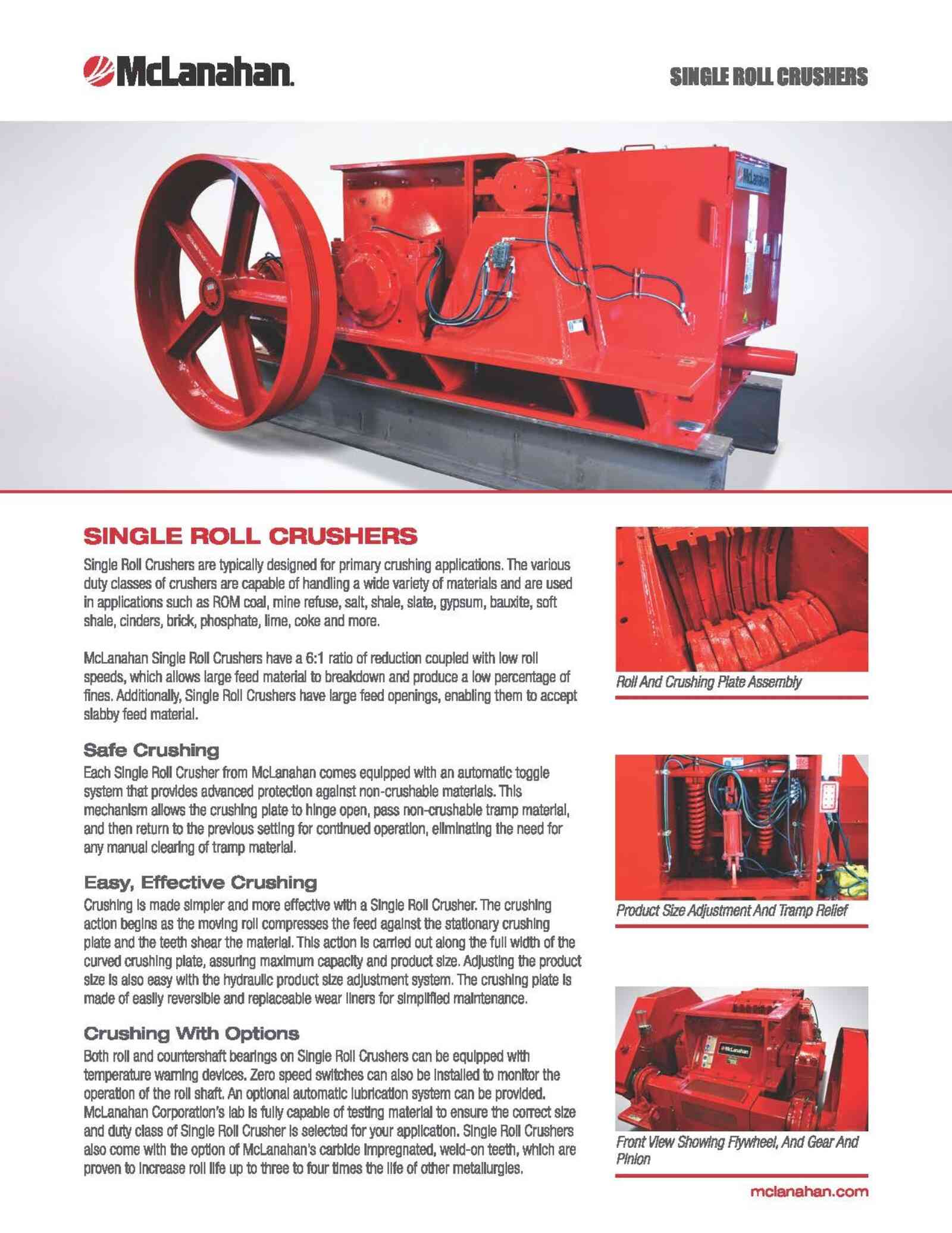 Single Roll Crusher Brochure Image Page 1 Page 1