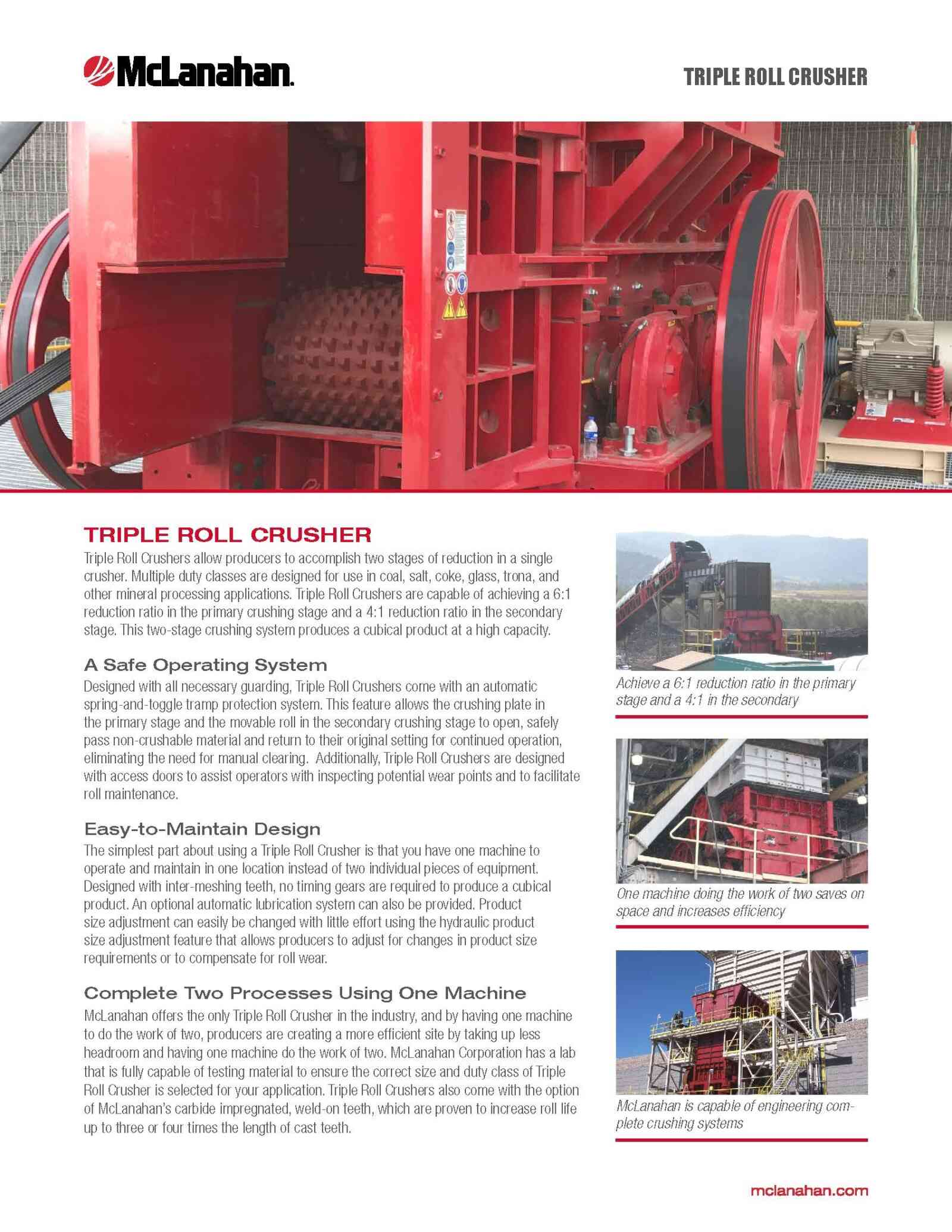 Triple Roll Crusher Brochure Image Page 1