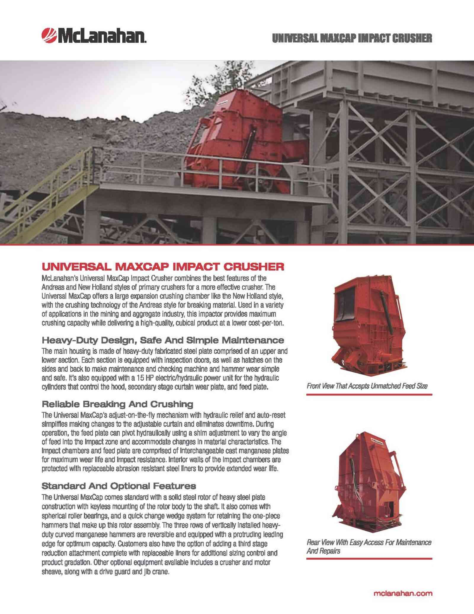 Universal Max Cap Brochure Preview Page 1