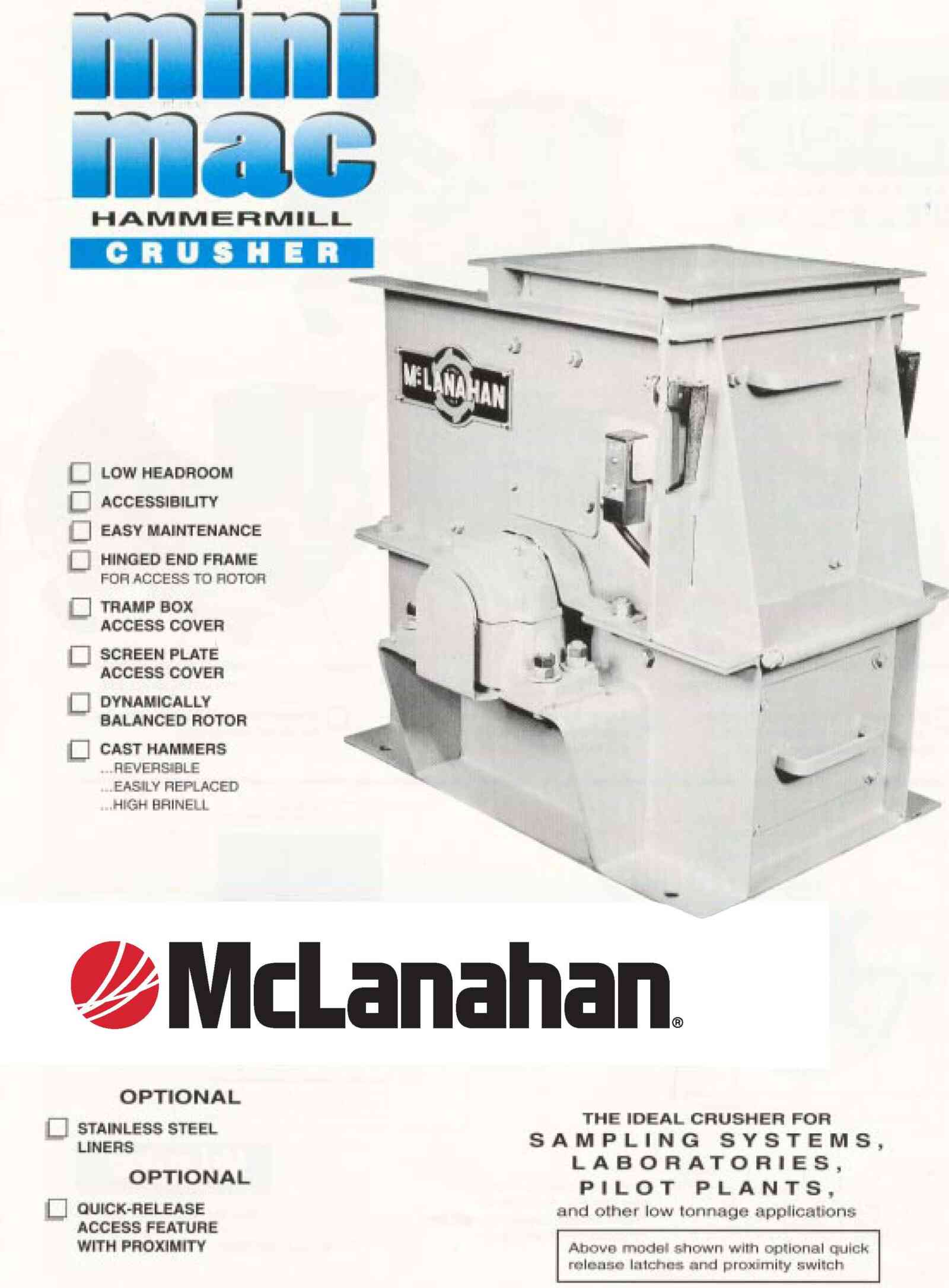 Minimac Hammermill Crusher Brochure Image Page 1