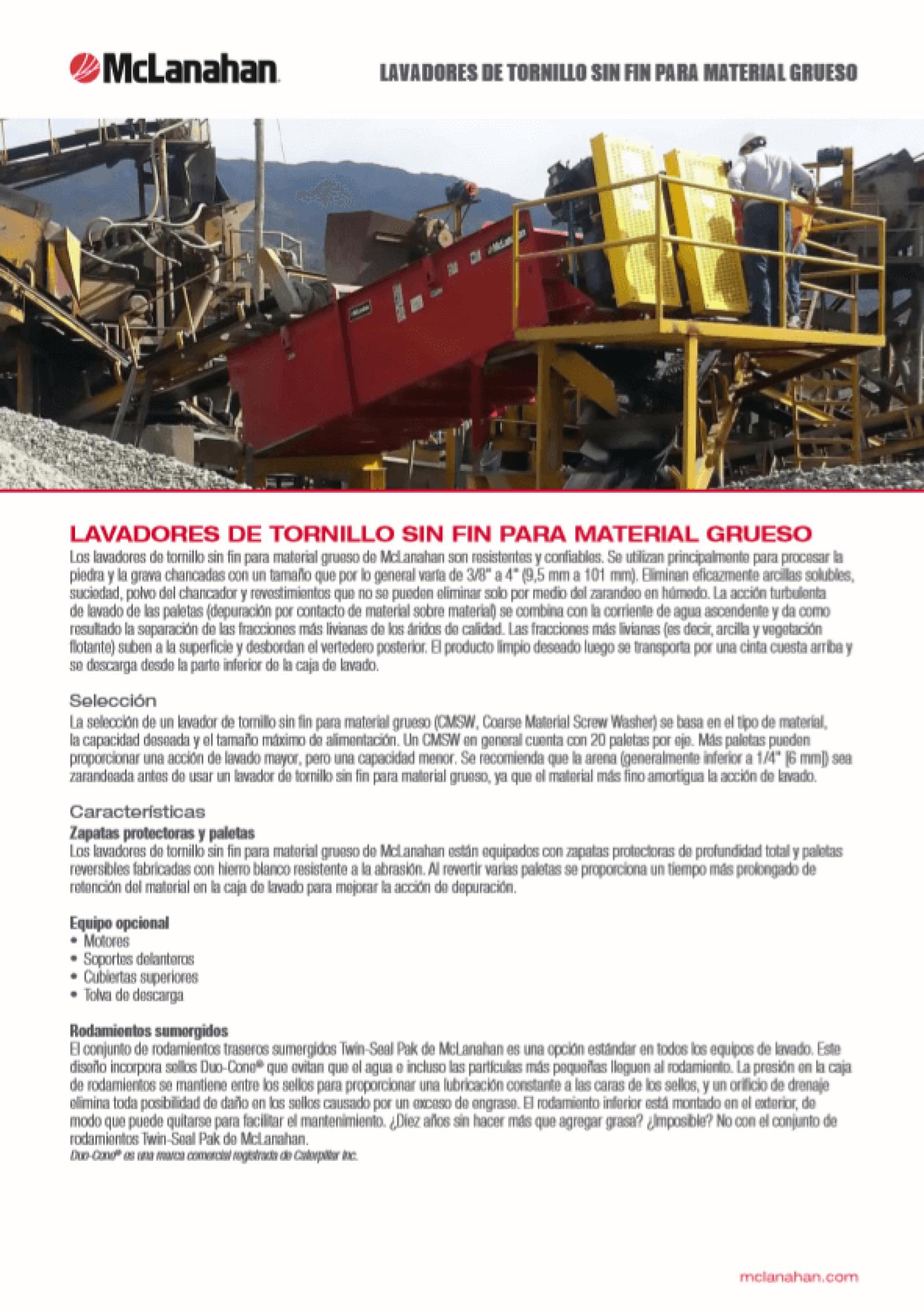 Coarse Material Brochure
