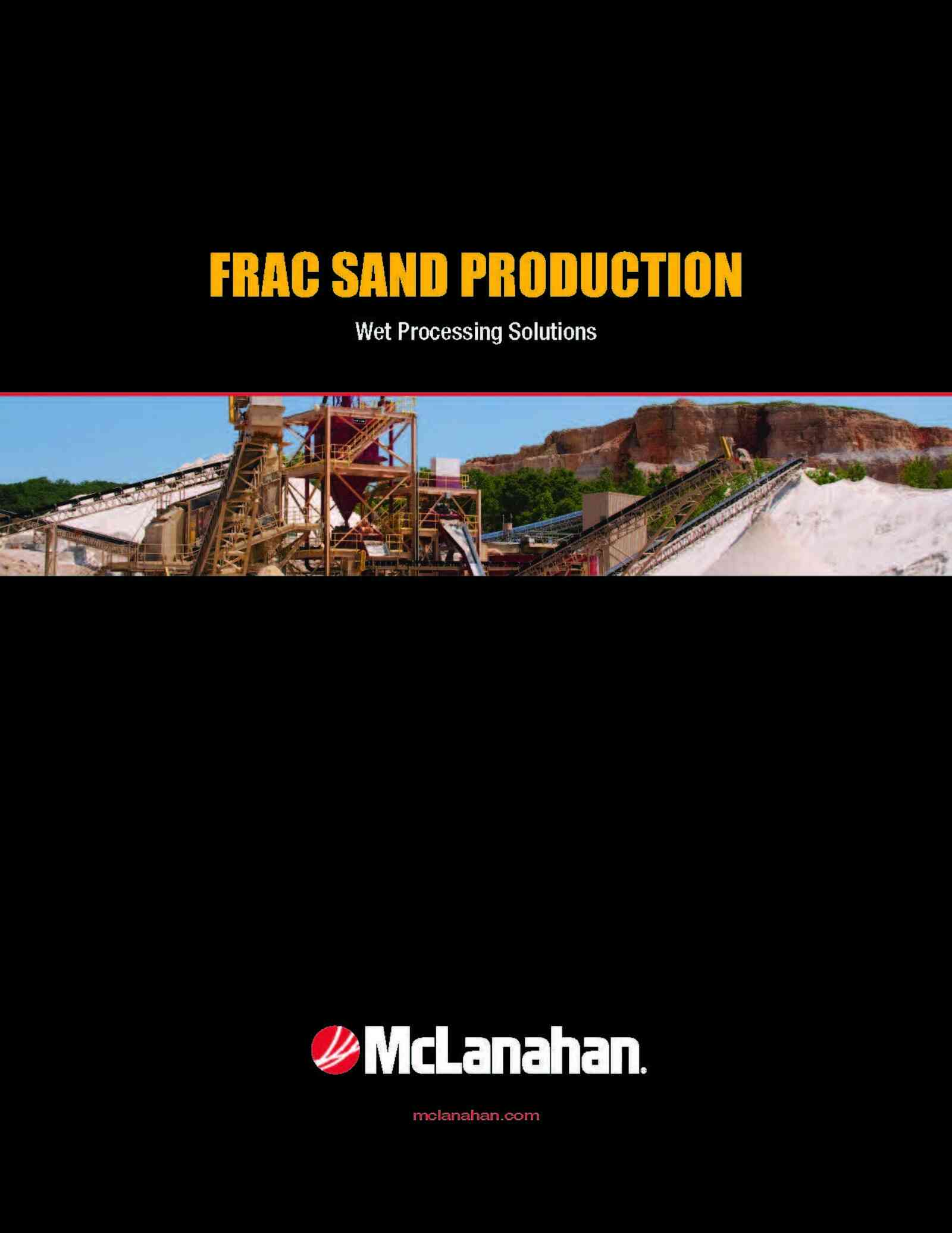 Frac Sand Brochure Image Page 1