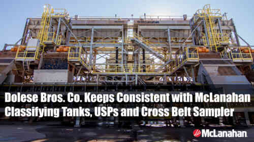 Dolese Keeps Consistent with McLanahan Classifying Tanks, USPs and Cross Belt Sampler