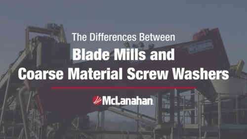 Blade Mill and Coarse Material Screw Washer Differences Infographic