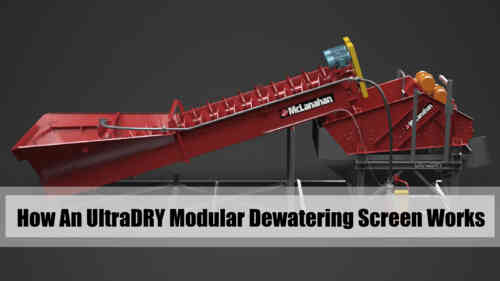 How A McLanahan UltraDRY Modular Dewatering Screen Works