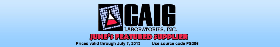 Caig Featured Supplier! Source Code: FS306. Sale ends July 7th, 2013 at Midnight ET.