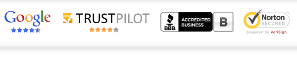 Trusted by Google, TrustPilot and The BBB. Secured by Verisign.