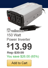 150 Watt Power Inverter - only $13.99