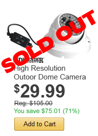 High Resolution Outoor Dome Camera - only $29.99