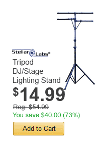 Tripod DJ/Stage Lighting Stand - only $14.99