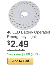 48 LED Battery Operated Emergency Light - only $2.49