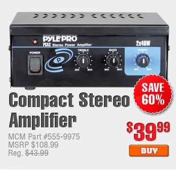 Compact Stereo Amplifier $39.99