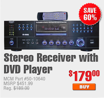 Stereo Receiver with DVD Player $179.00