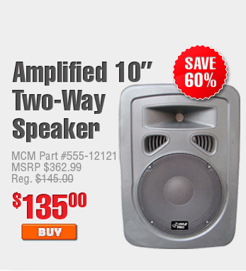 Amplified 10'' Two-Way Speaker $135.00