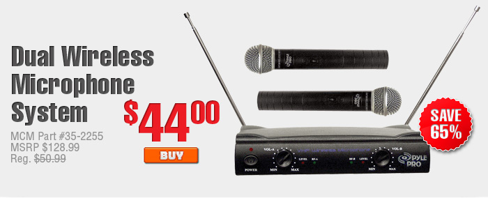 Dual Wireless Microphone System $44.00