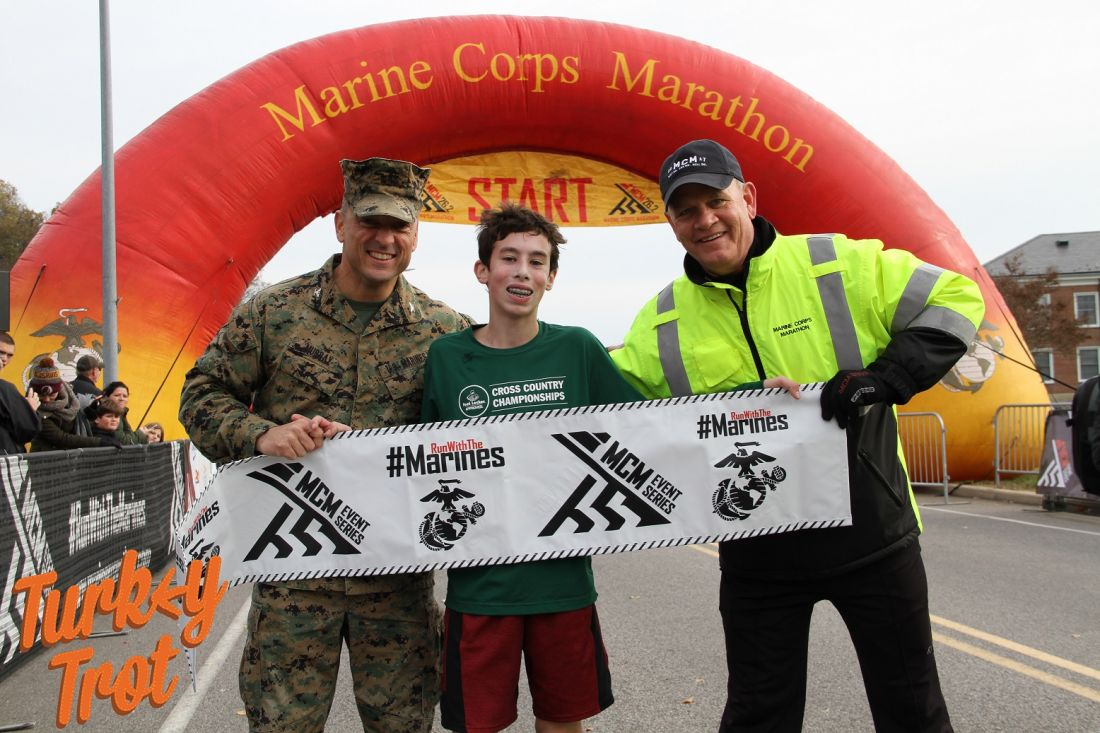 Caleb Hyman sets a new world record at the Turkey Trot 10K at Marine Corps Base Quantico