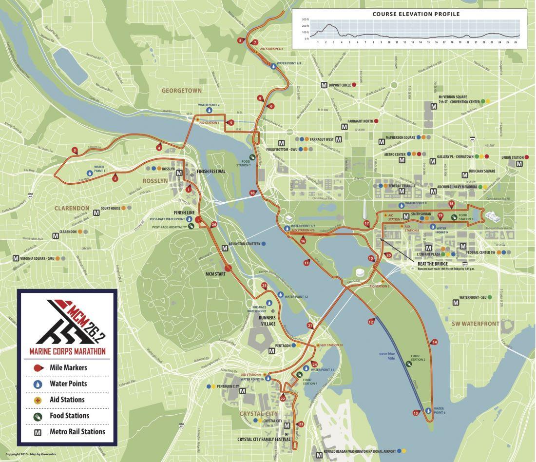 Marine Corps Marathon map